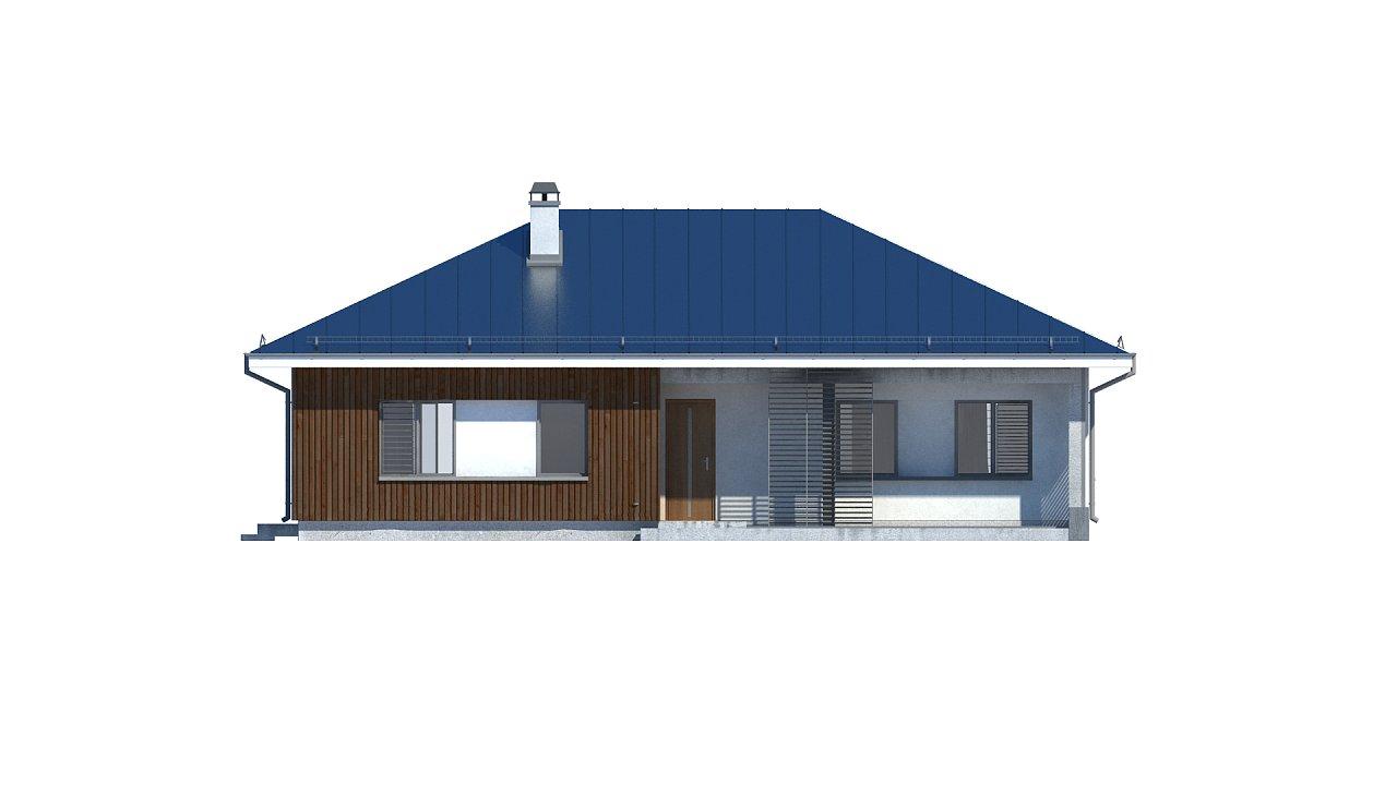 Практичный одноэтажный дом традиционной формы с многоскатной крышей. 26