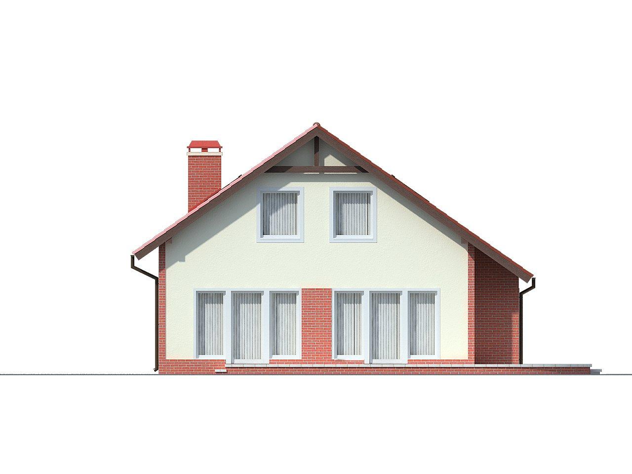 Экономичный в строительстве дом с дополнительной спальней на первом этаже. 4
