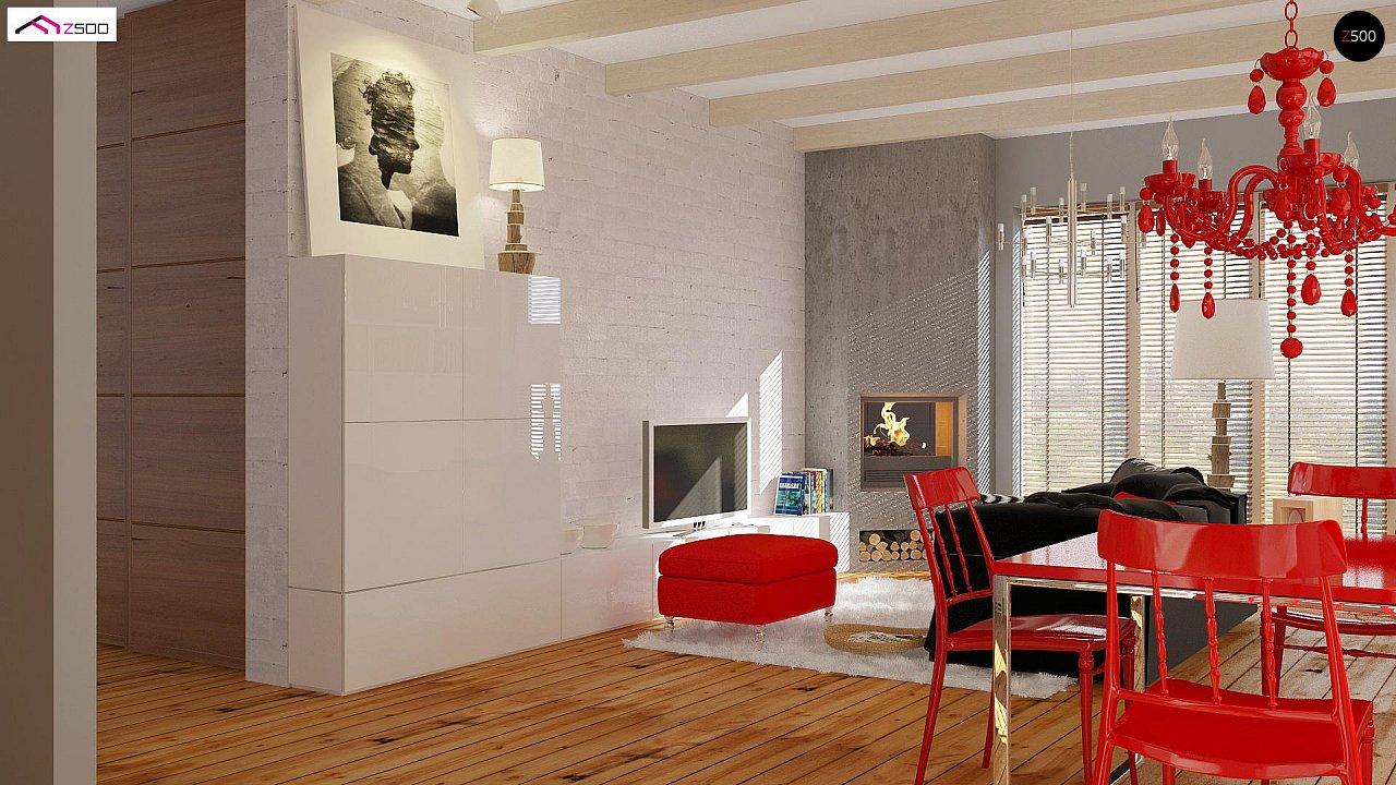 Одноэтажный удобный дом с фронтальным гаражом, с возможностью обустройства мансарды. - фото 3