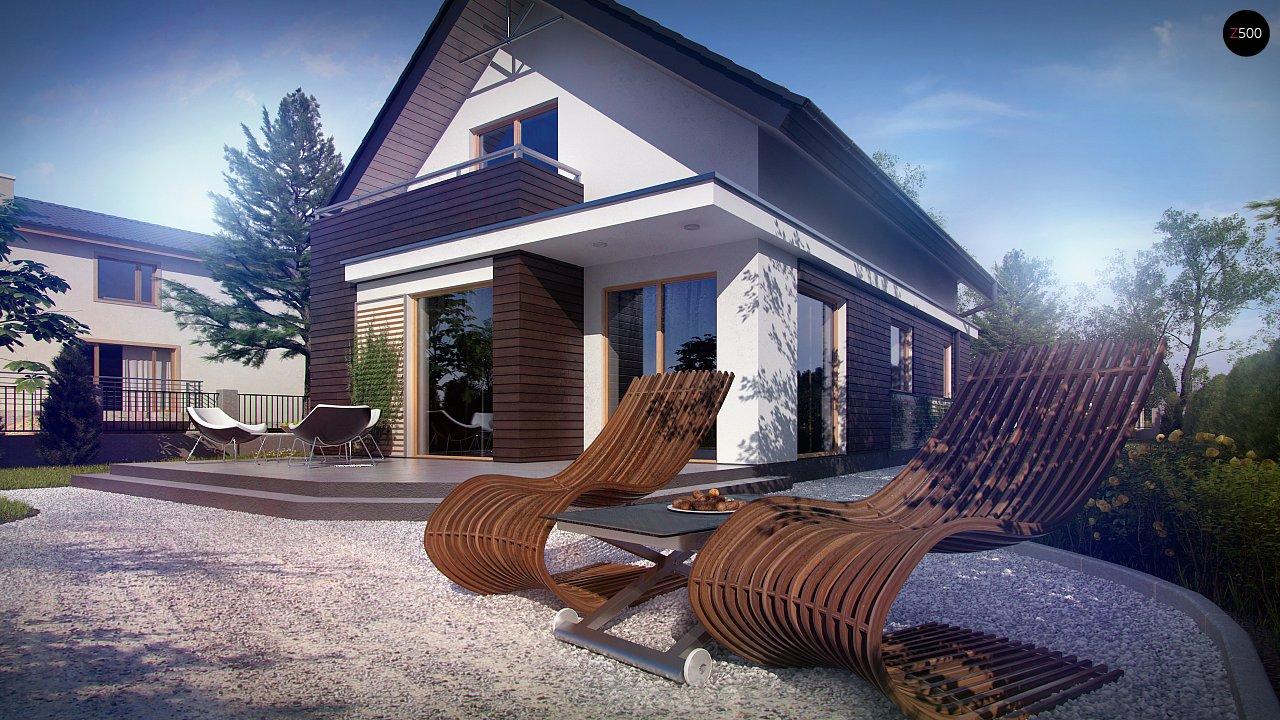 Функциональный аккуратный дом с мансардой, также для узкого участка. 4