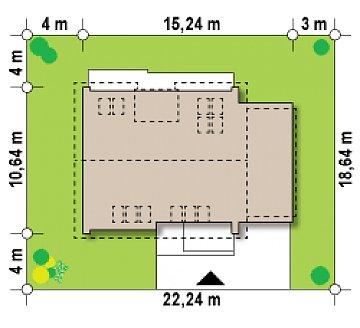 Комфортный дом с оригинальным остеклением в гостиной и вторым светом. план помещений 1
