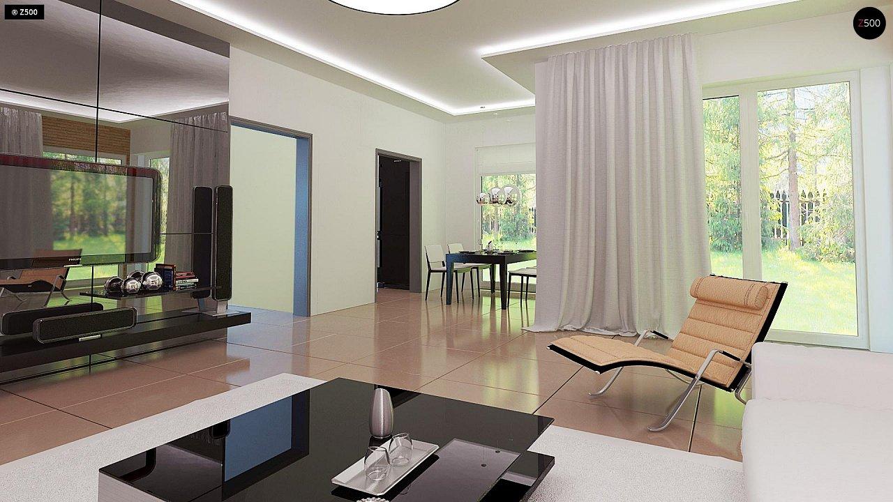 Комфортный дом привлекательного дизайна с дополнительной комнатой над гаражом. 4