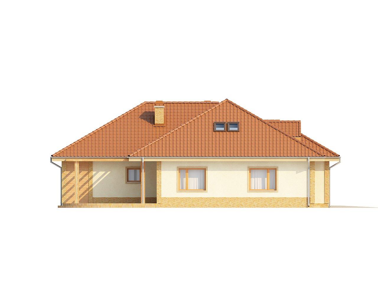 Проект просторного одноэтажного дома с возможностью обустройства мансарды. 5
