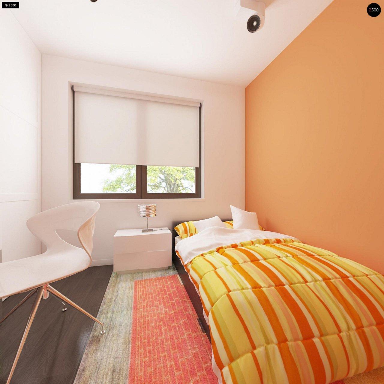 Проект удобного одноэтажного дома с гаражом для двух автомобилей и большим хозяйственным помещением. 17