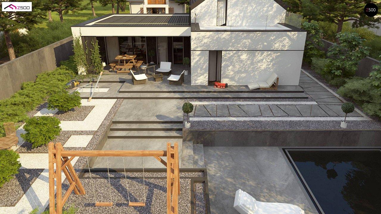 Проект дома с мансардой в европейском стиле с гаражом на одно авто. - фото 6