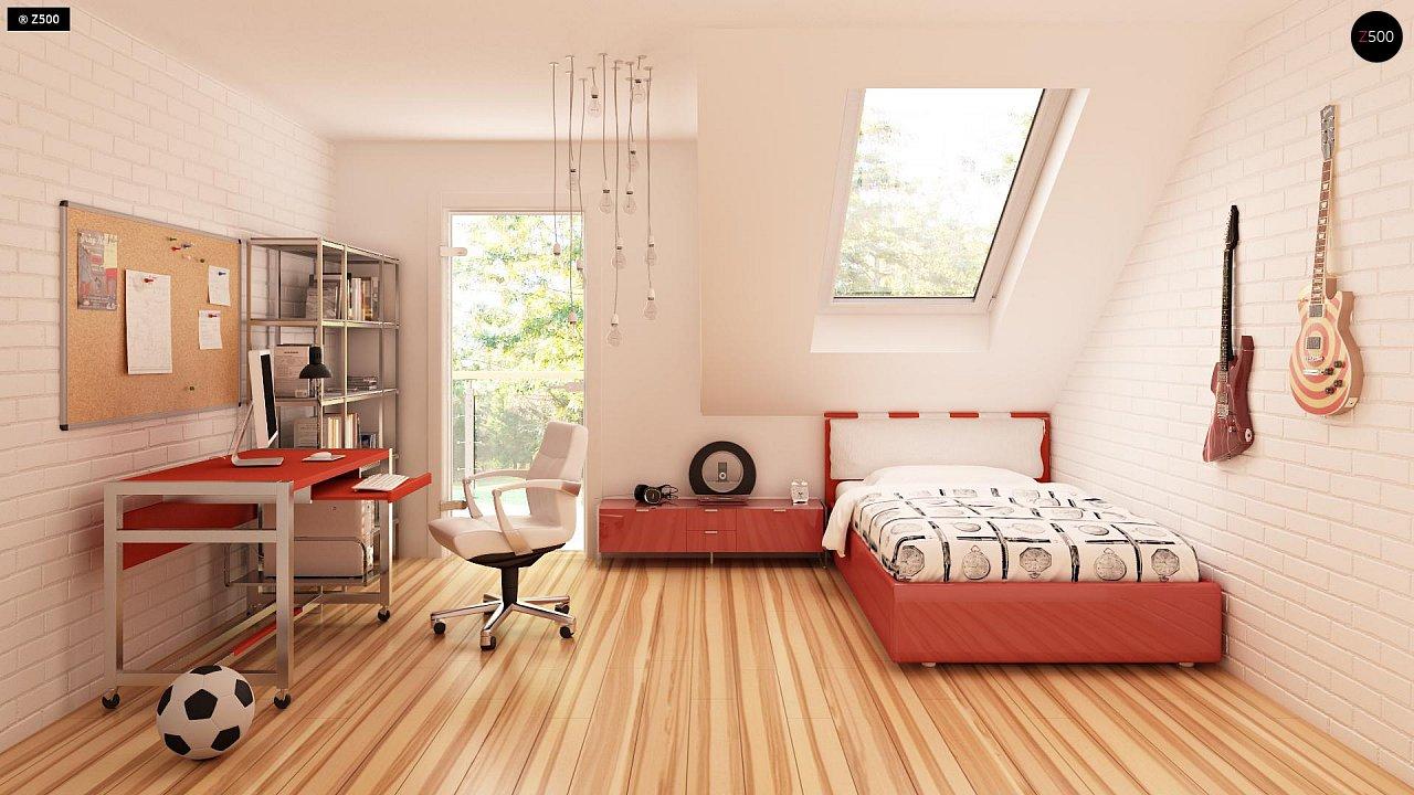 Современный дом с уютным и функциональным интерьером. Интересное сочетание двускатной крыши и кубических форм. - фото 11