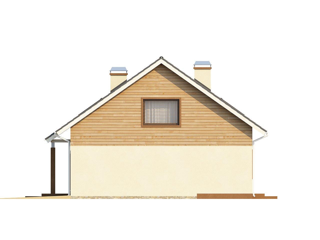 Проект традиционного дома с мансардой, со встроенным гаражом. 5