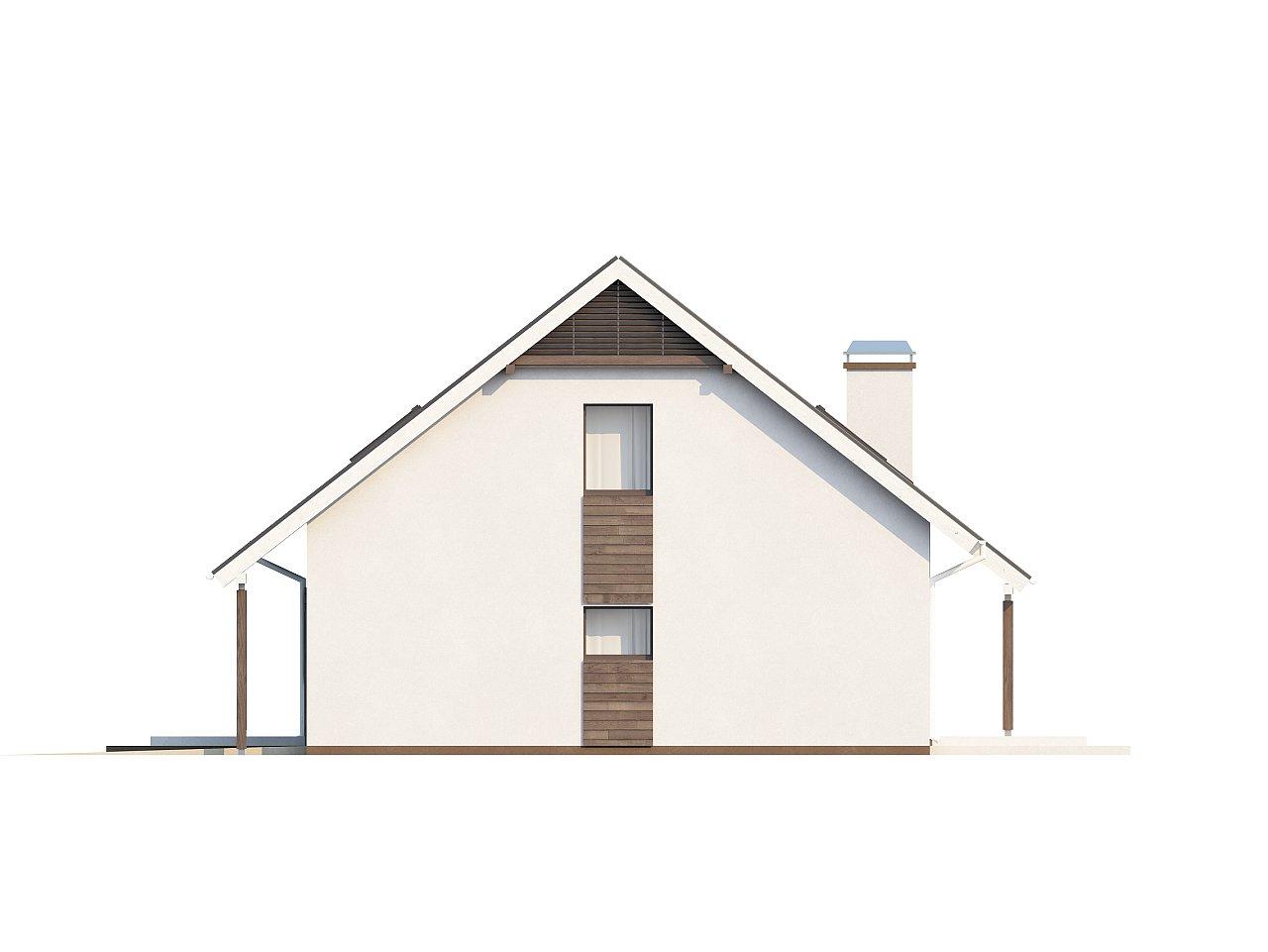 Практичный аккуратный дом с мансардой, со встроенным гаражом для одной машины. - фото 28