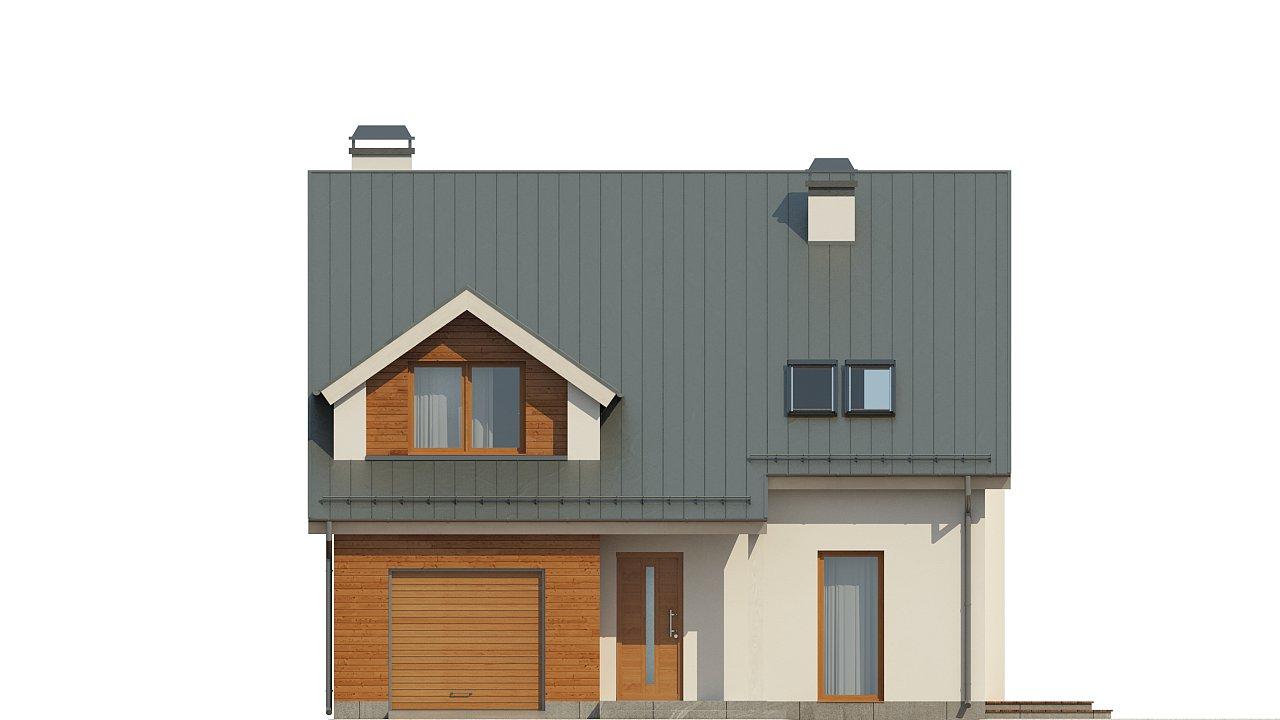 Дом традиционной формы с элегантными современными элементами в архитектуре. - фото 3