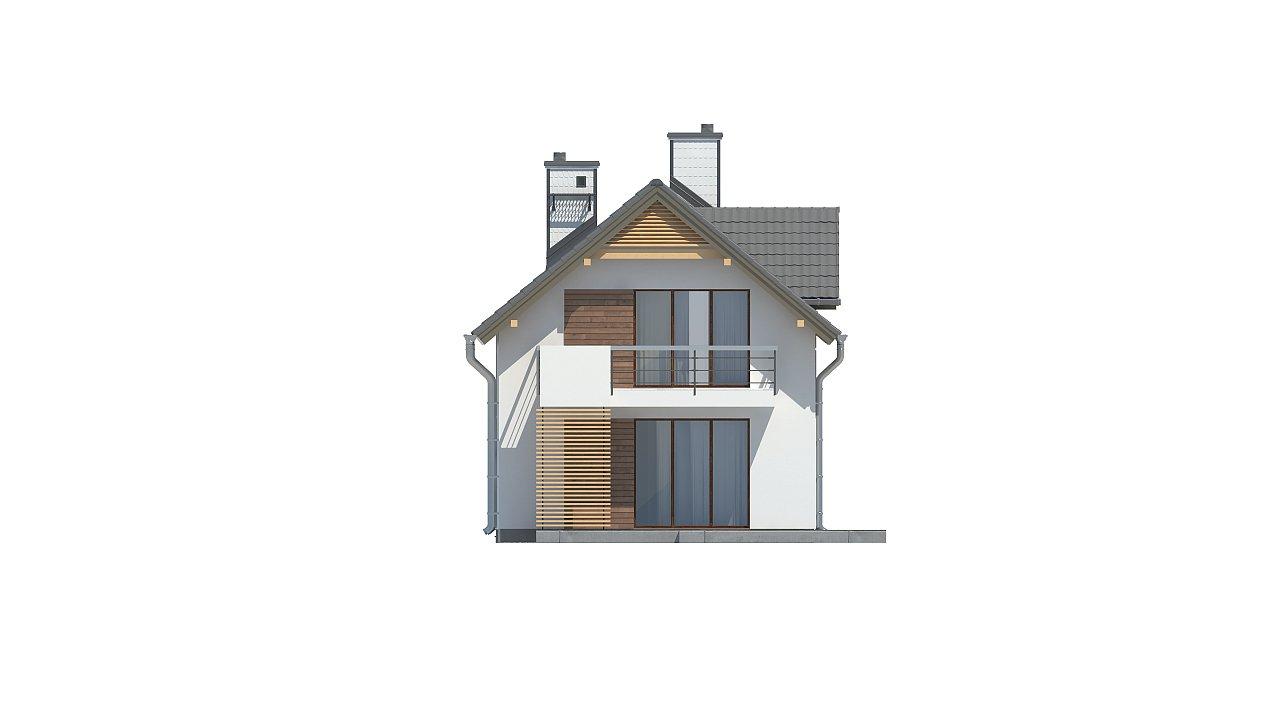 Функциональный и привлекательный дом с гаражом для узкого участка. 19