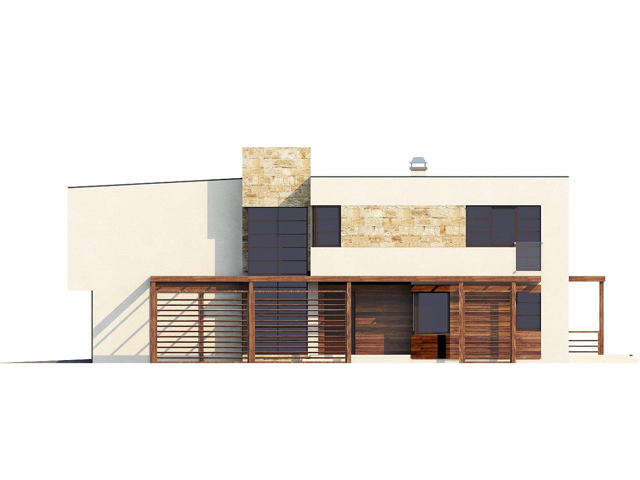 Двухэтажный дома в стиле модерн с практичным интерьером и гаражом для двух автомобилей. 9