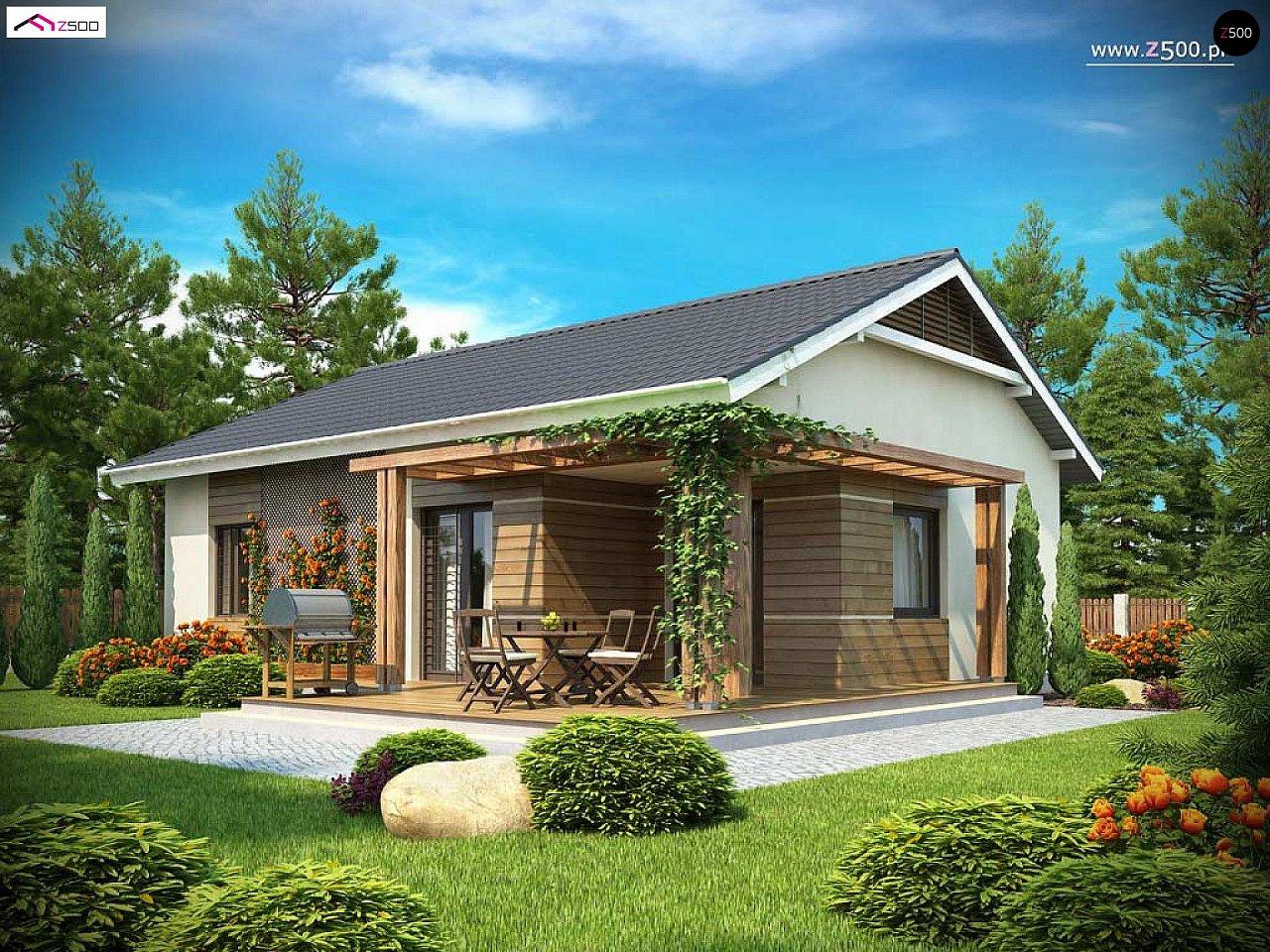 Проект одноэтажного дома с приятным дизайном 2