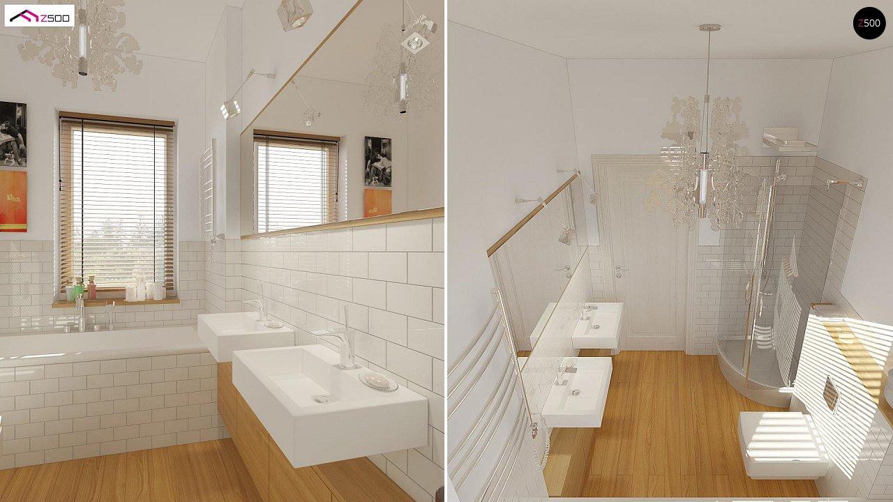 Одноэтажный удобный дом с фронтальным гаражом, с возможностью обустройства мансарды. - фото 13