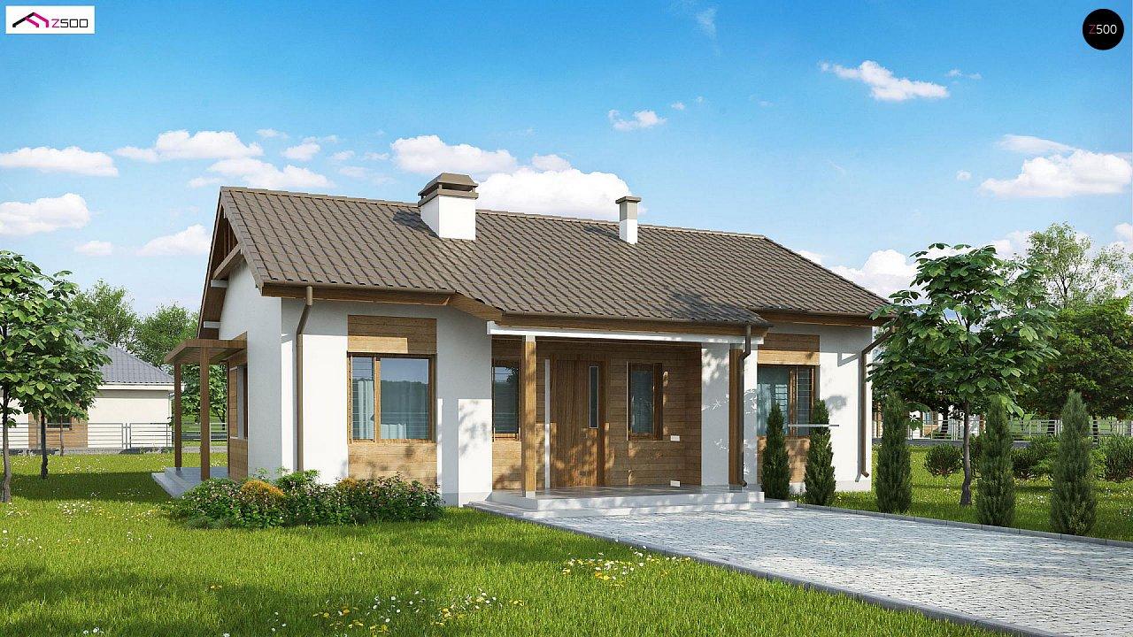 Проект одноэтажного дома с приятным дизайном 1
