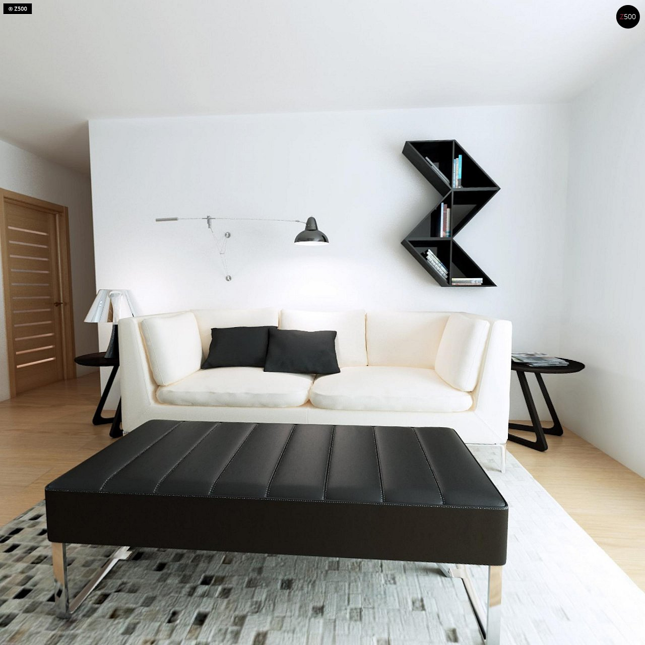 Современный комфортабельный одноэтажный дом с функциональным интерьером и уютной террасой. 12