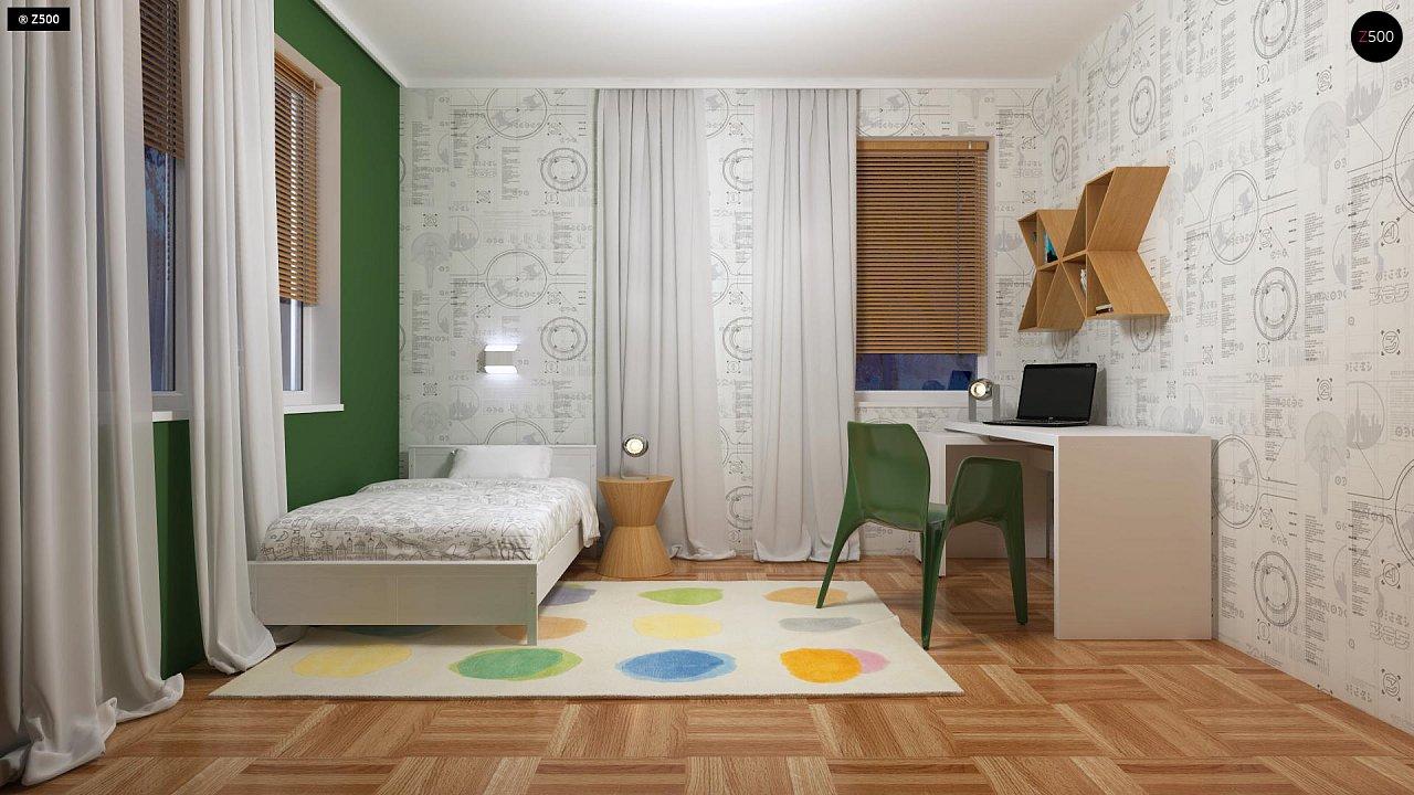Компактный одноэтажный дом простой формы с возможностью обустройства чердачного помещения. 18