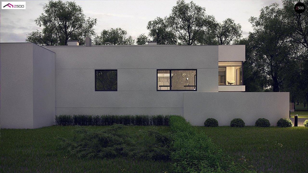 Современный проект с уникальным дизайном, оштукатуренным фасадом и гаражом 5