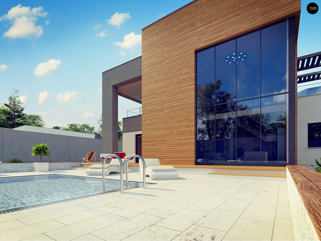 Современный двухэтажный дом с большой площадью остекления. - фото 17