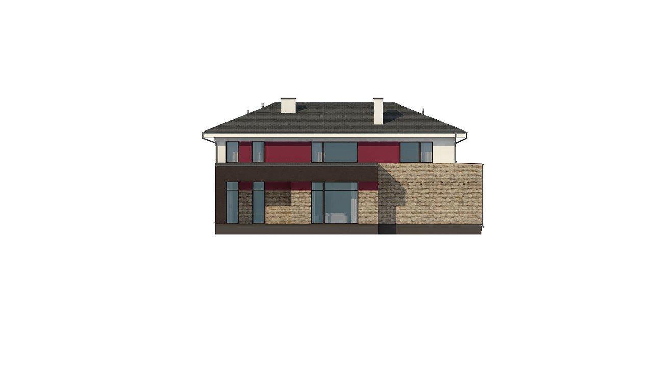 Двухэтажный дом с просторной гостиной, с сауной на первом этаже. 13