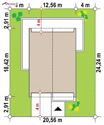 Современный одноэтажный дом с грамотной удобной планировкой план помещений 1