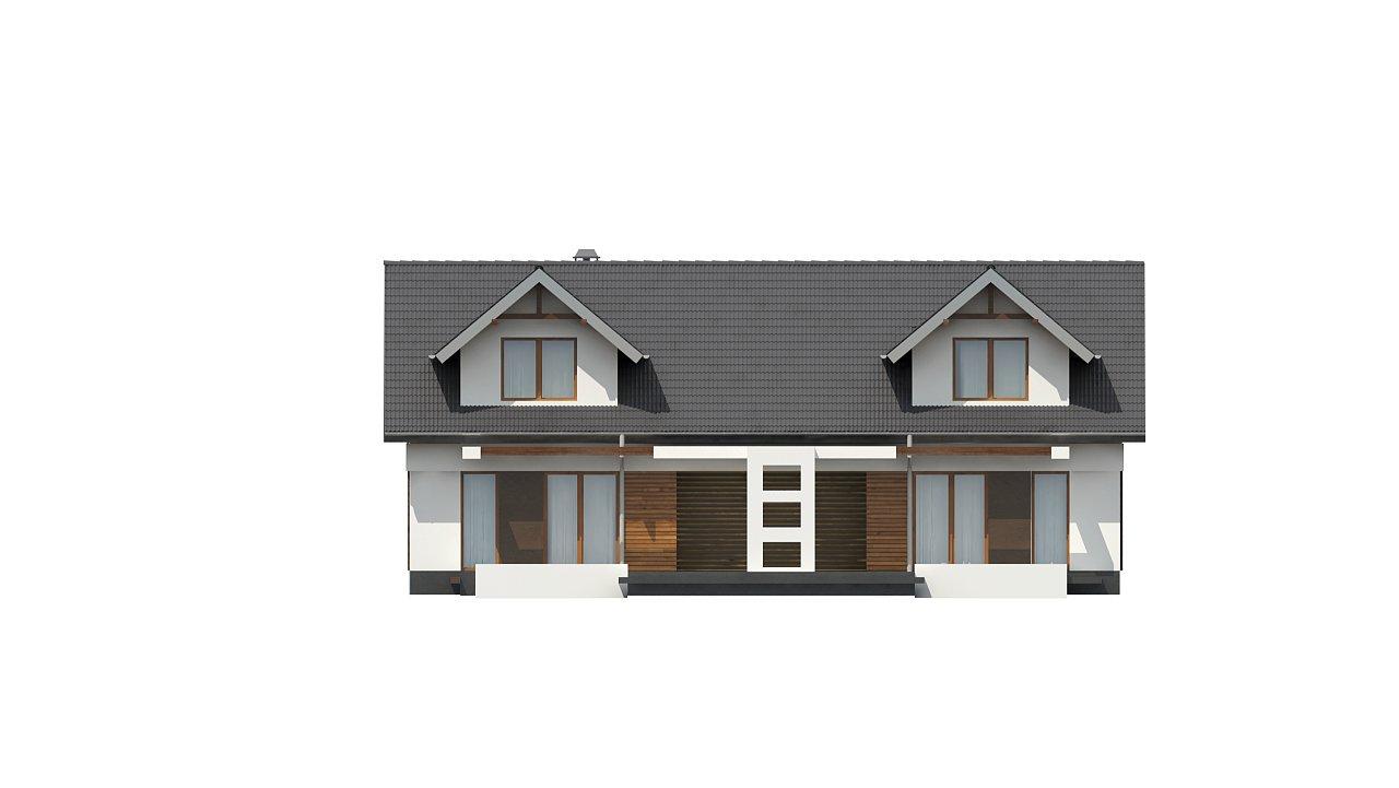 Практичный двухквартирный дом с общими входом и техническим помещением. 9