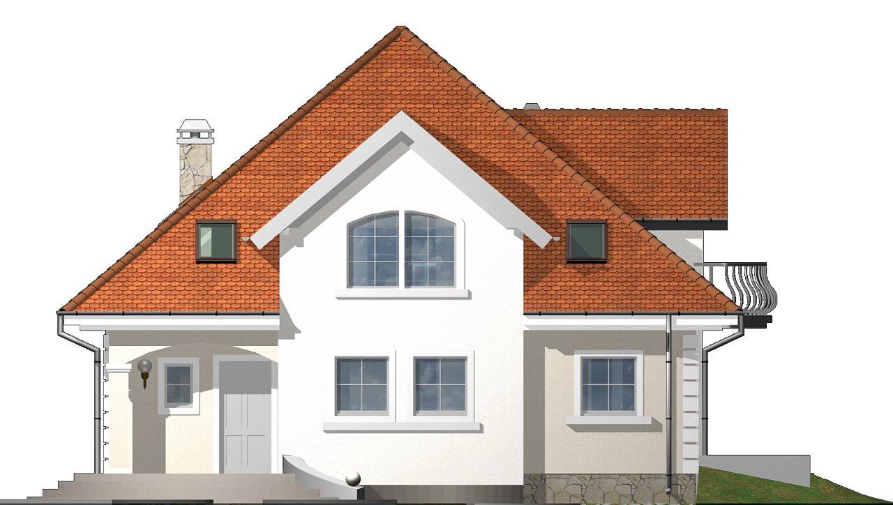 Проект красивого мансардного дома, адаптированный для каркасной технологии 22