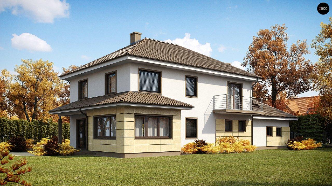 Просторный и функциональный двухэтажный дом с многоскатной кровлей и гаражом. - фото 2