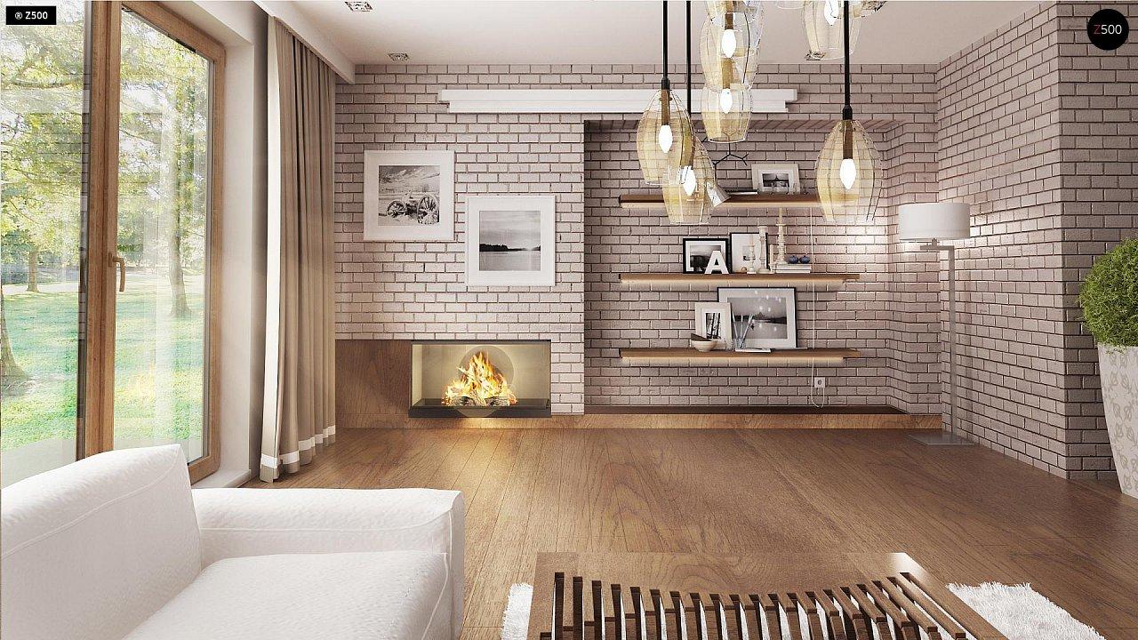 Практичный одноэтажный дом с большим гаражом, просторной гостиной и двумя спальнями. 5