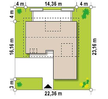 Cтильный мансардный дом с гаражом для двух машин план помещений 1
