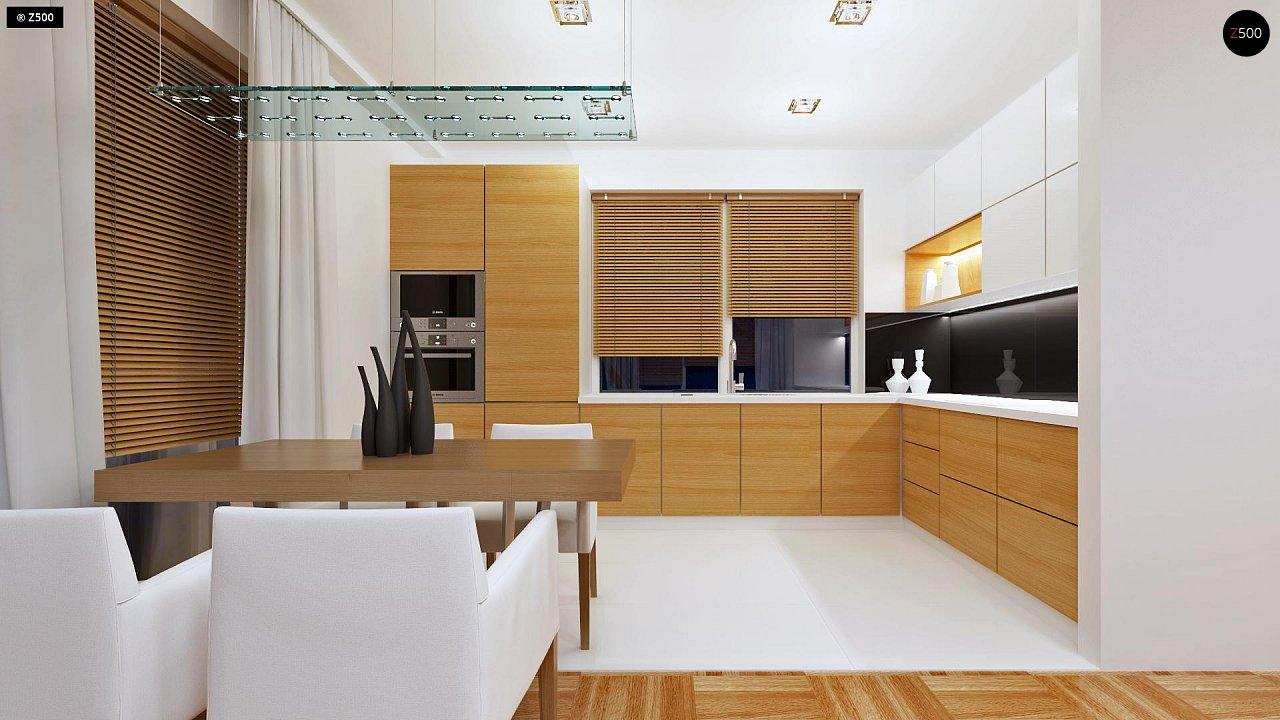 Компактный одноэтажный дом простой формы с возможностью обустройства чердачного помещения. 7