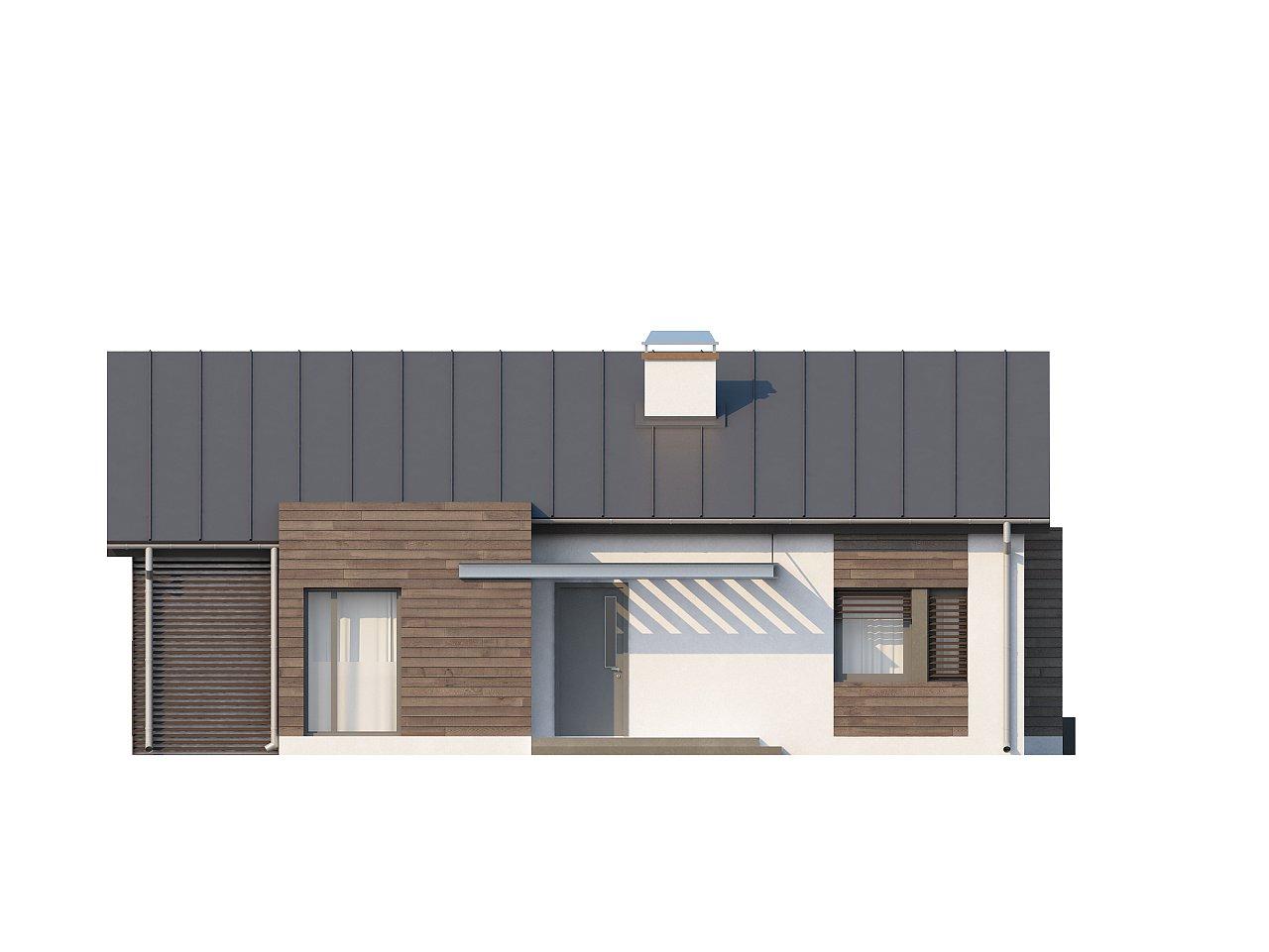 Функциональный одноэтажный дом с современными элементами отделки фасадов. - фото 21