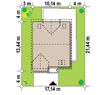 Дом традиционной формы с элегантными современными элементами в архитектуре. план помещений 1