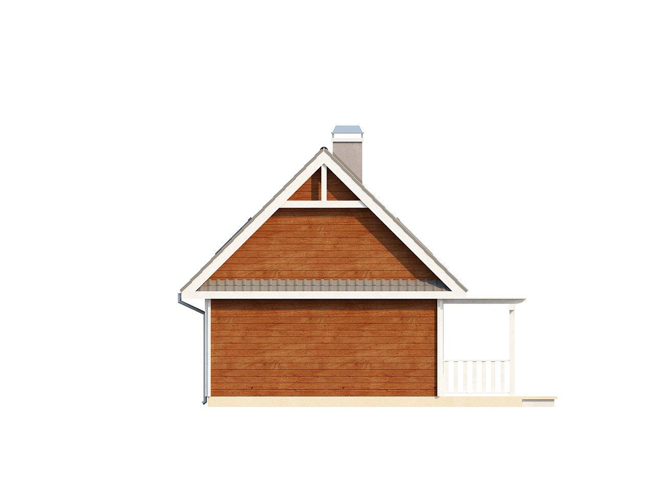 Маленький, уютный дом с мансардой, двускатной крышей и c фронтальной террасой. - фото 14