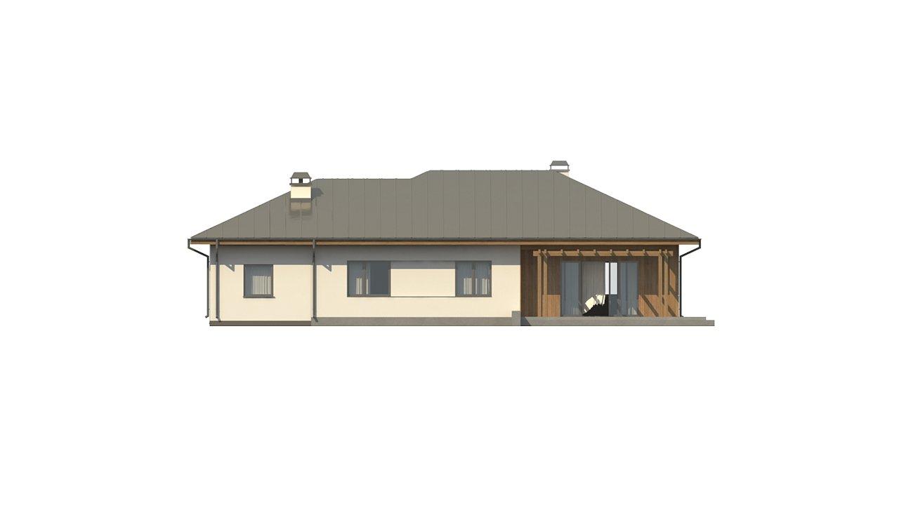 Вариант одноэтажного дома Z176 с гаражом справа на одну машину. - фото 28