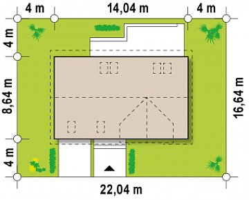 Версия проекта Z122 c дополнительной комнатой на мансарде вместо нового света. план помещений 1