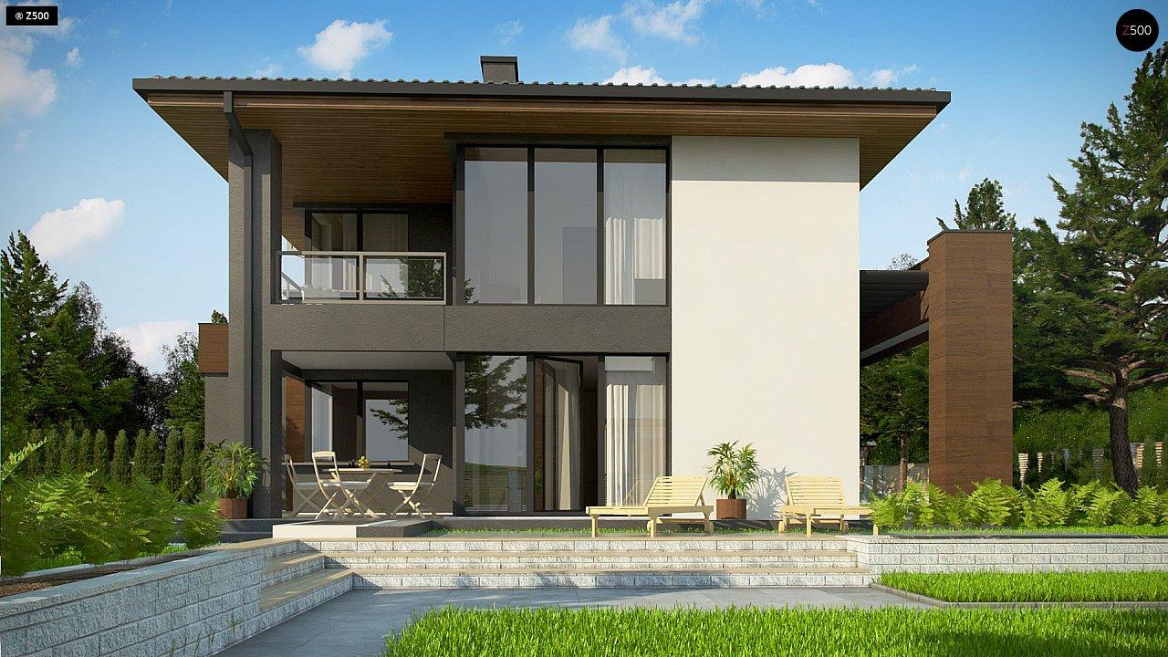 Уменьшенная версия проекта z156 с гаражем и стильным фасадом 5