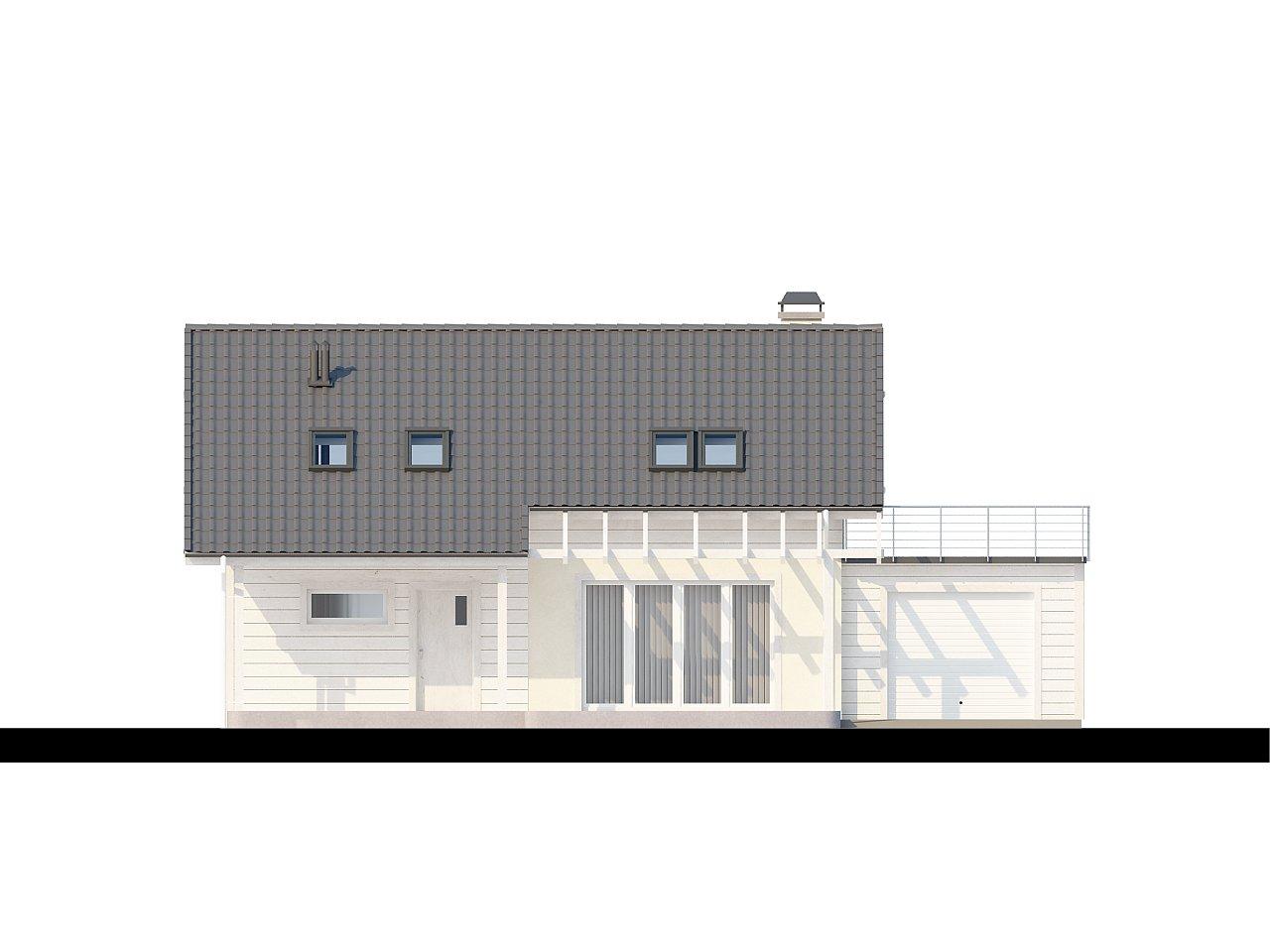 Дом со входом с южной стороны, с большой террасой на втором этаже. - фото 3