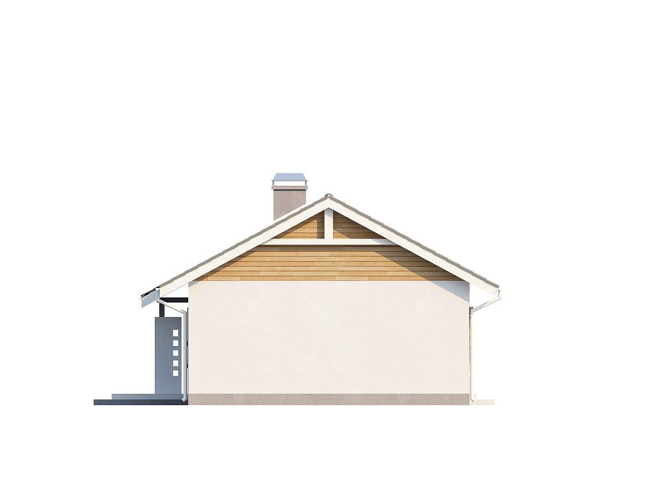 Выгодный компактный одноэтажный дом с угловым окном в кухне. 16