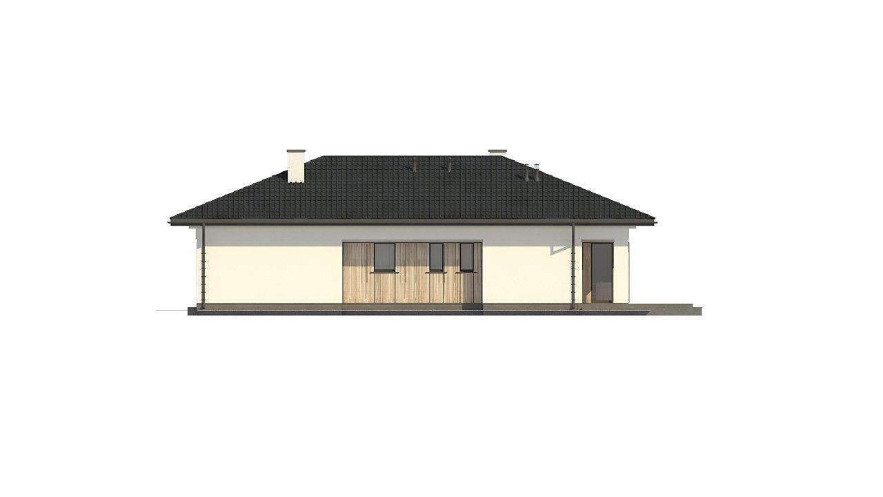 Дом для узкого участка с 4-х скатной крышей - фото 10