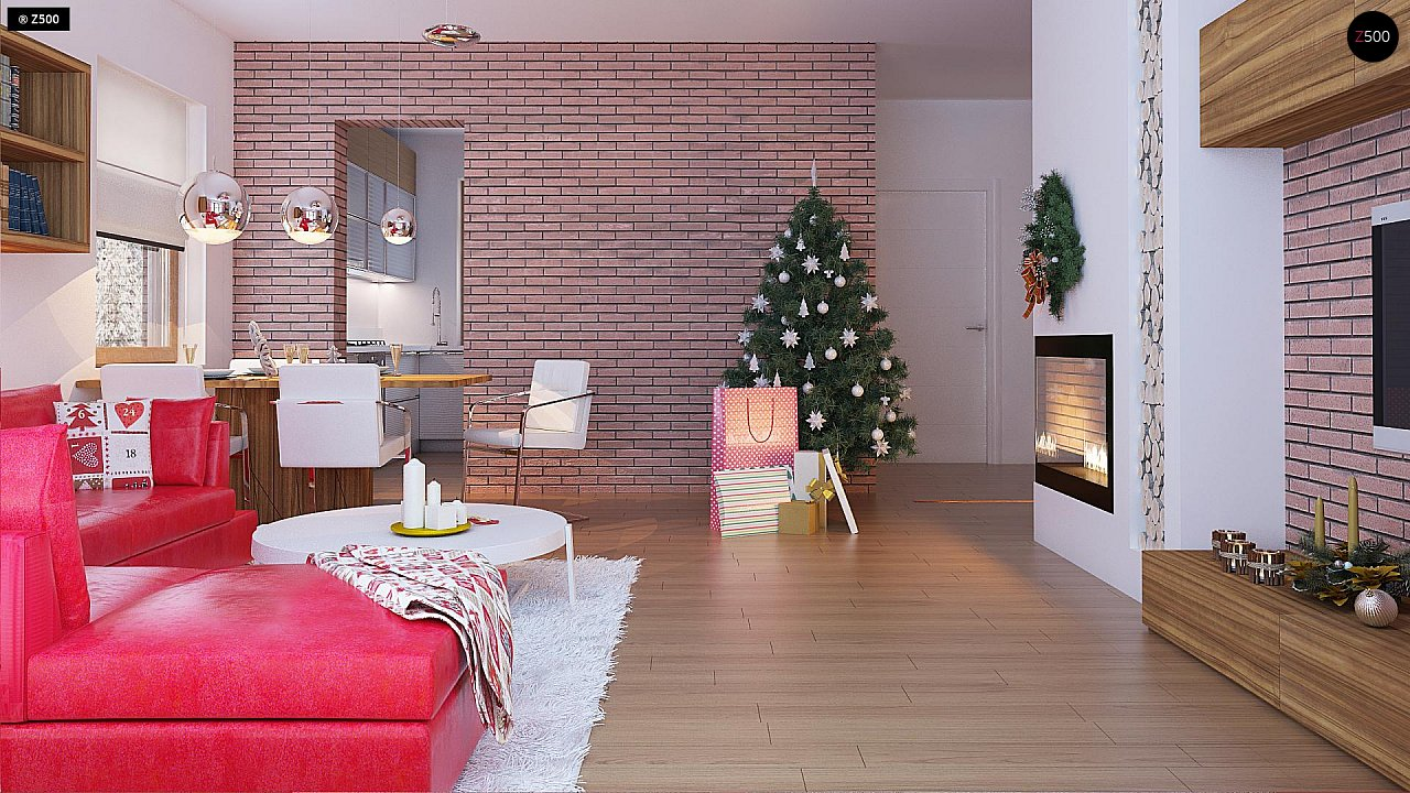 Компактный, уютный одноэтажный дом с двускатной крышей. 10
