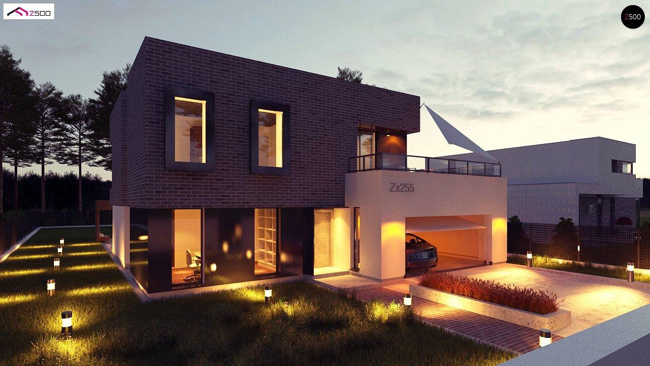 Проект двухэтажного дома с современным фасадом и удобным интерьером. 2