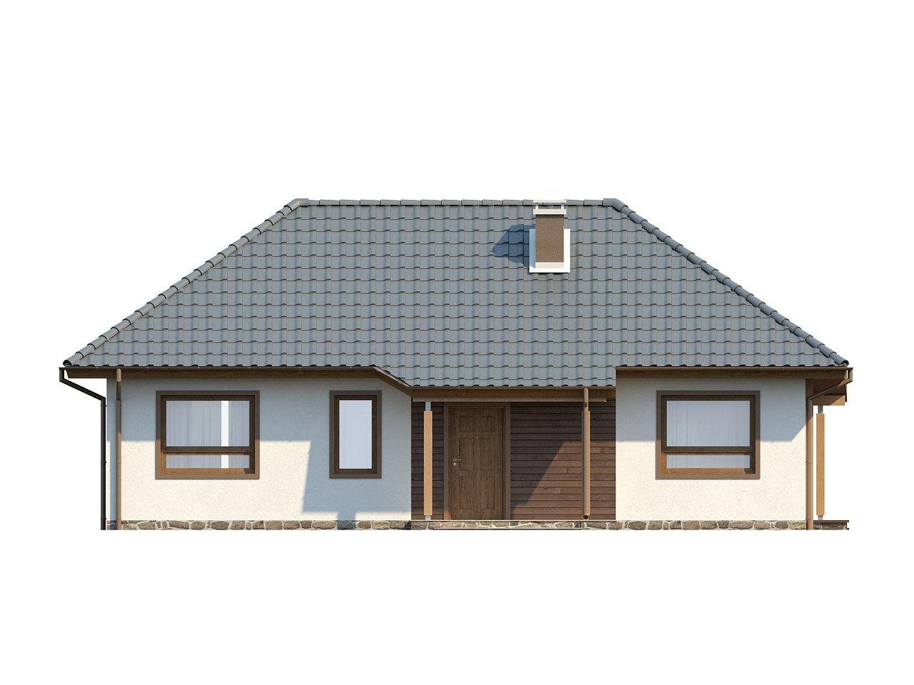 Проект практичного одноэтажного дома в традиционном стиле. 14