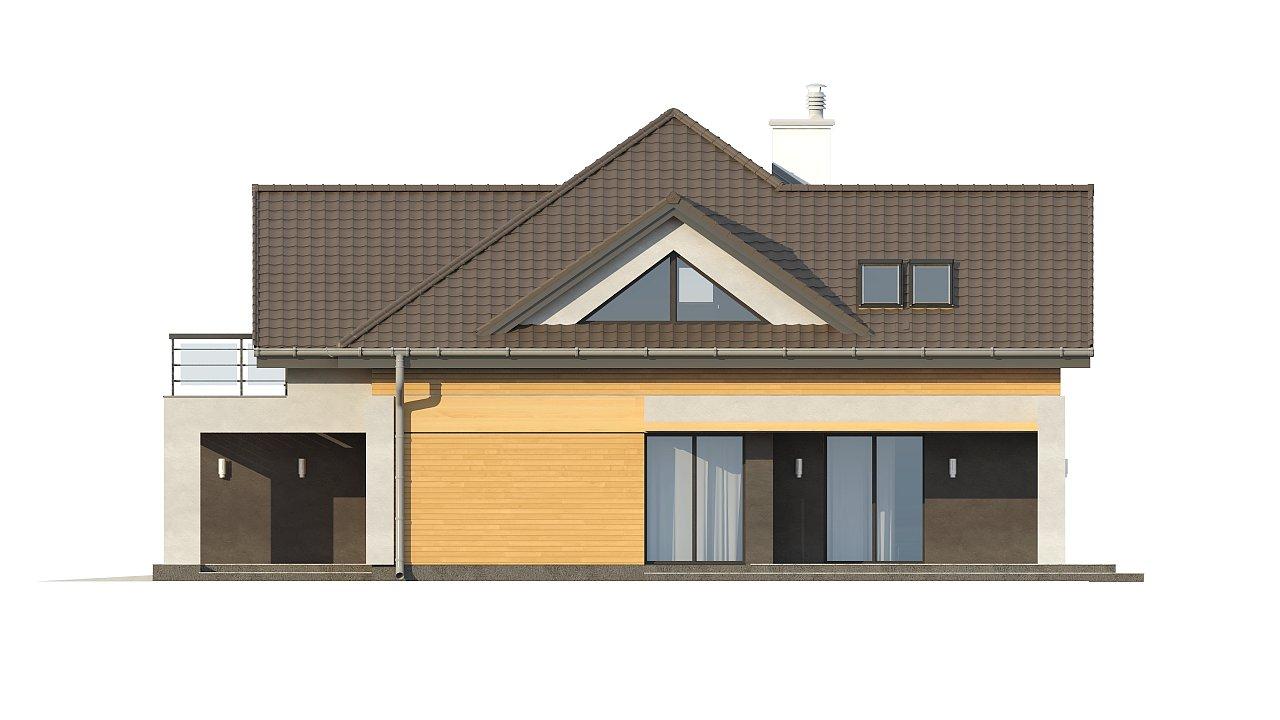 Необычные мансардные окна, фронтальный гараж и современные фасады выделяют этот проект среди остальных. 16
