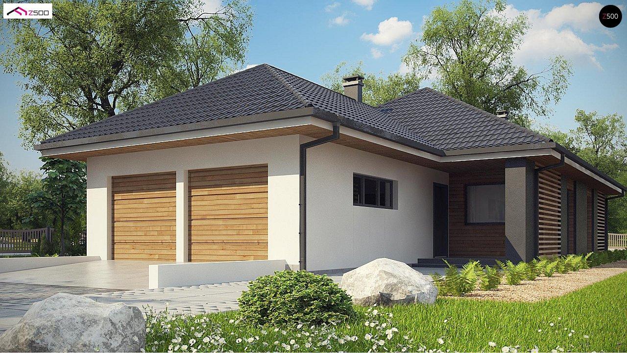 Одноэтажный дом в современном стиле с двойным гаражом 3
