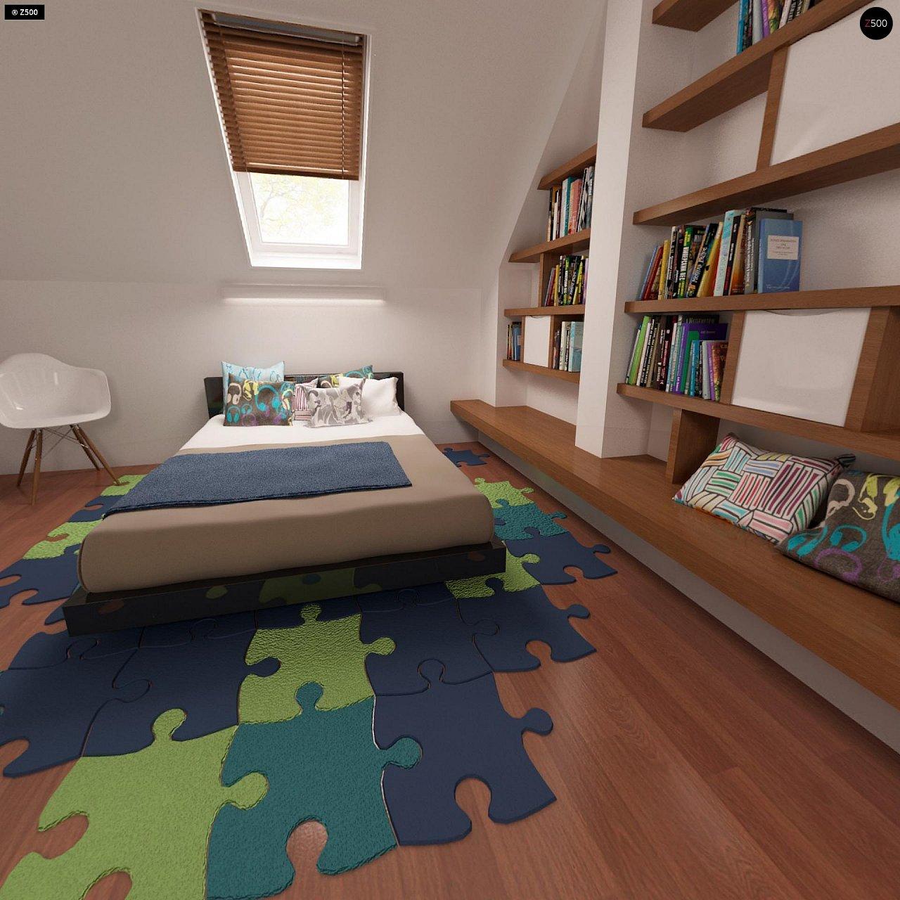 Компактный традиционный дом простой формы с двускатной крышей. 20