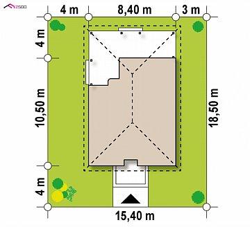 Вариант дома Z16 с мансардой план помещений 1