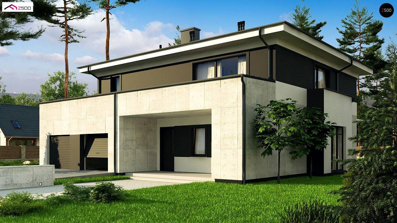 Проект просторного современного коттеджа с 5 спальнями. - фото 3