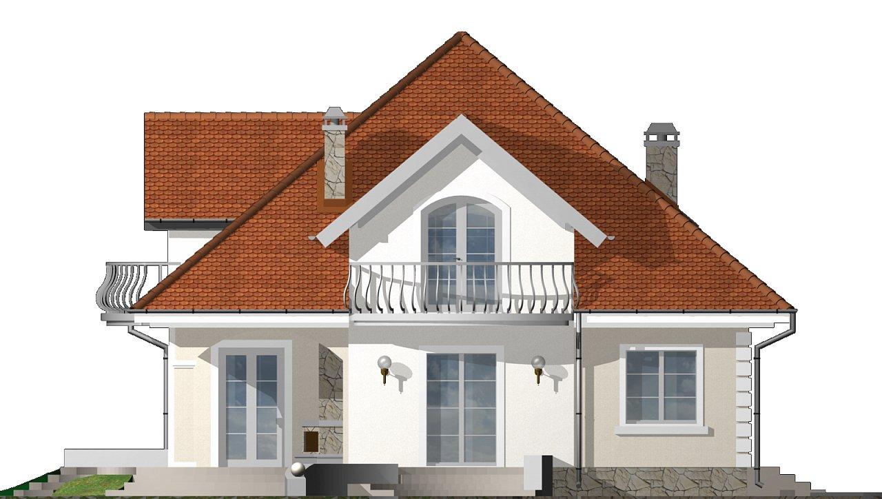 Проект красивого мансардного дома, адаптированный для каркасной технологии 23