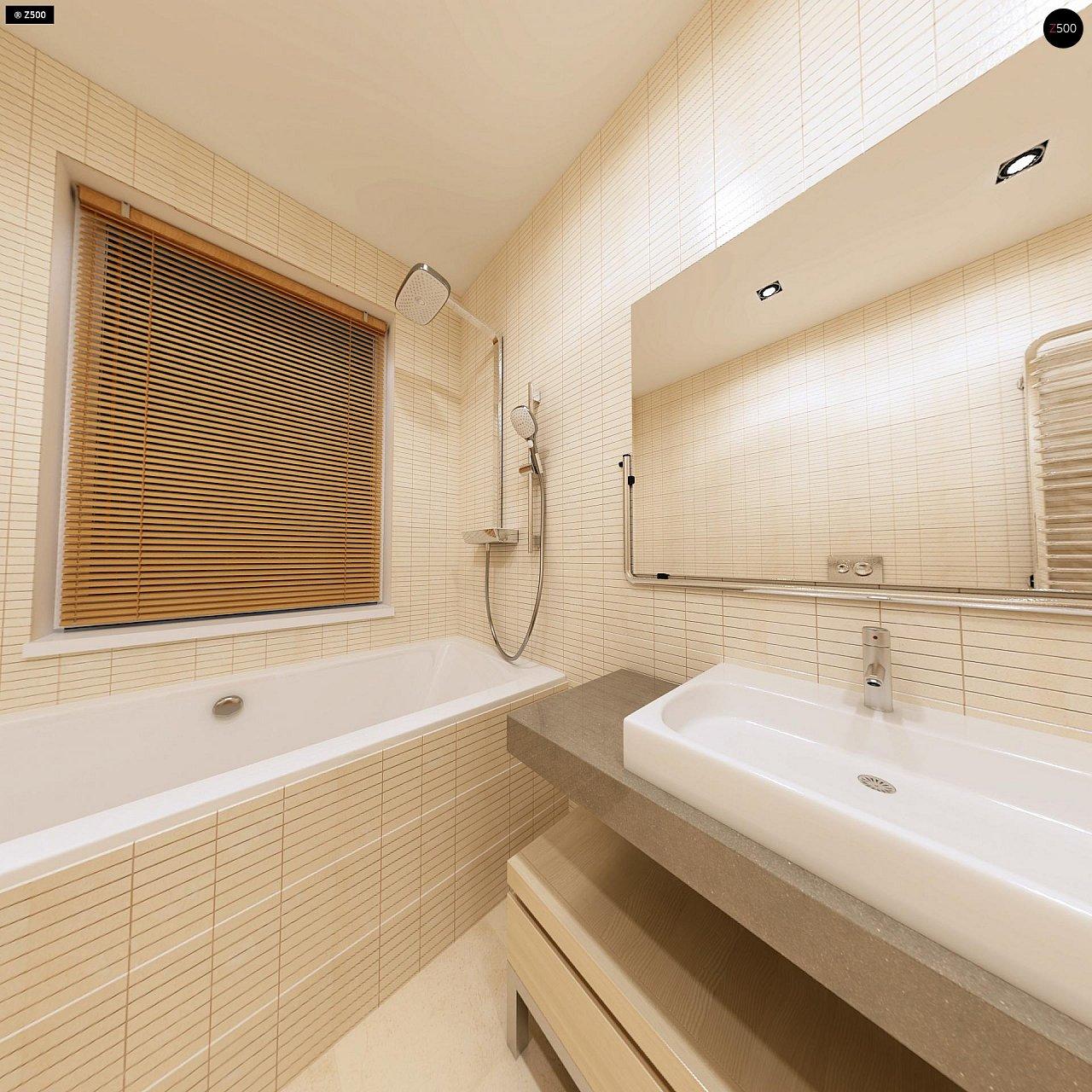 Компактный одноэтажный дом простой формы с возможностью обустройства чердачного помещения. 15