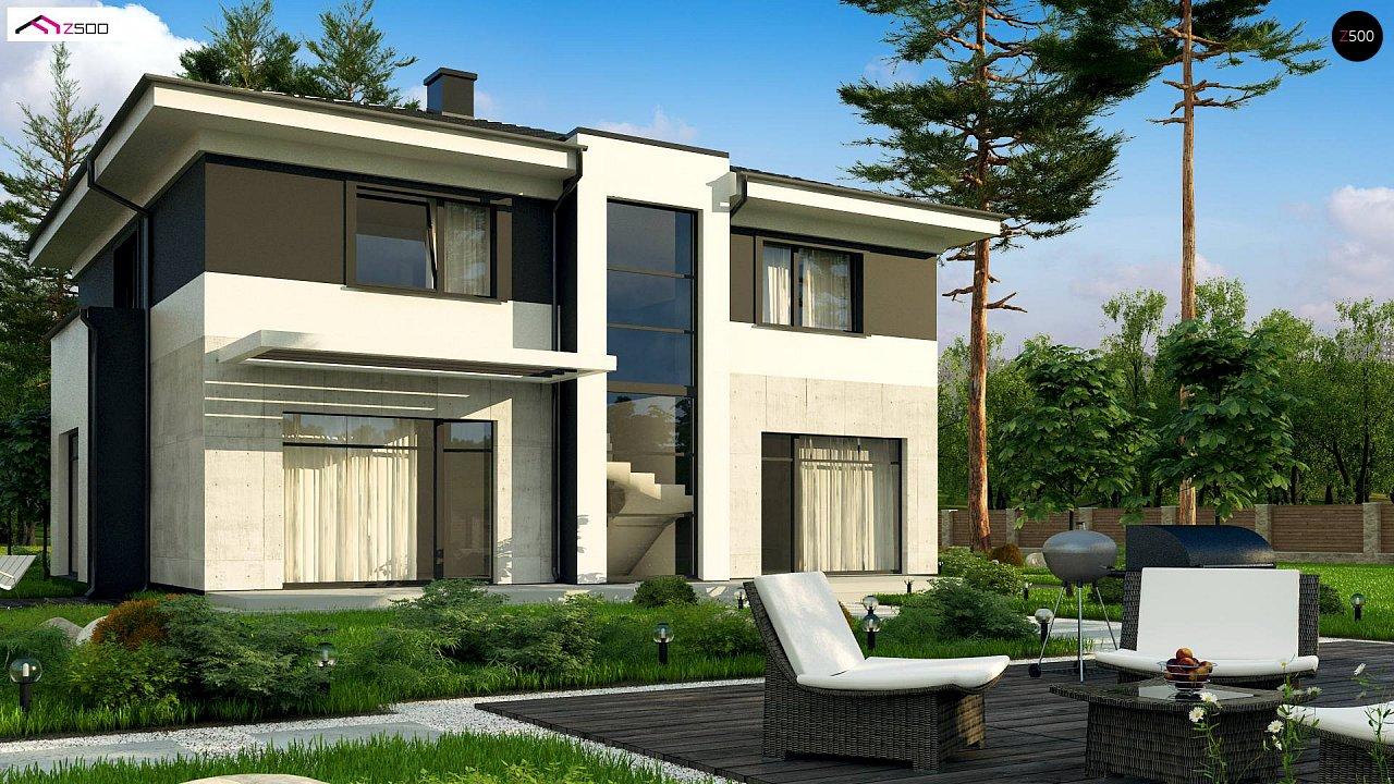 Проект просторного современного коттеджа с 5 спальнями. - фото 2